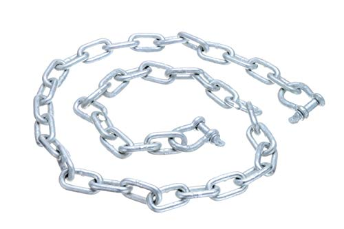 "Seachoice 44121 Galvanized ¼"" x 4 Anchor Lead Chain with (2) 5/16"" Galvanized Shackles, One Size"