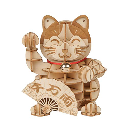 3D Wooden Lucky Cat Puzzle