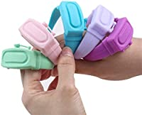 PANGHU 3PC Dispenser di disinfettante per Mani Silicone Dispenser di Sapone per Mani Bracciale in Silicone Dispenser di Gel lavamani Liquido indossabile indossabile Ricaricabile #4