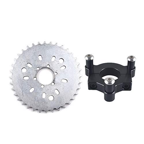 JRL 415 Chain Sprocket 1.5' 36T 36 Teeth Black CNC Adapter Motorized Bicycle Bike 50cc 60cc 80cc