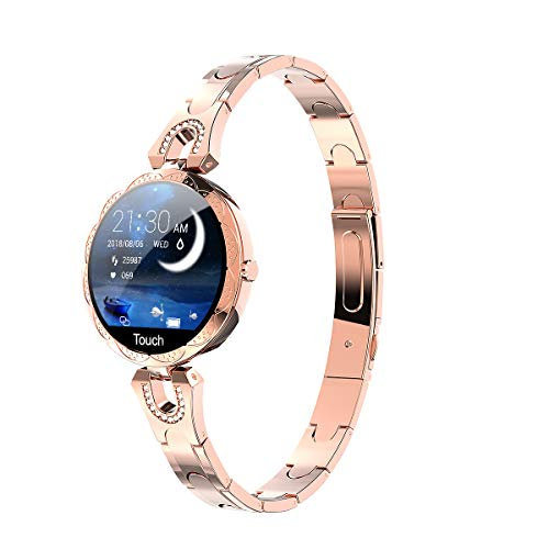 longlu-smart-watch-for-women-smartwatch-compatible-for-ios-android-iphone-samsung-phones-fitness-tracker-with-heart-rate-blood-pressure-waterproof-bluetooth-pedometer-sleep-activity-tracker-gold