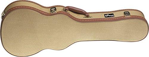 Stagg GCX-UKB Tweed Deluxe Hard Case for Baritone Ukulele - Gold