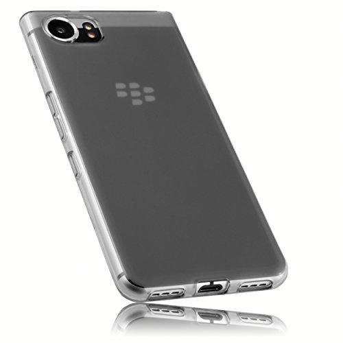 mumbi Hülle kompatibel mit BlackBerry KEYone Handy Hülle Handyhülle, transparent schwarz