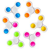 wellvo Pop Fidget Spinners 6 Pack, Push Bubble Fidgets Spinner Simple Sensory Fidget Toys Fidget Packs Hand Spinner Toy for ADHD Anxiety Stress Reducer for Kids Adults