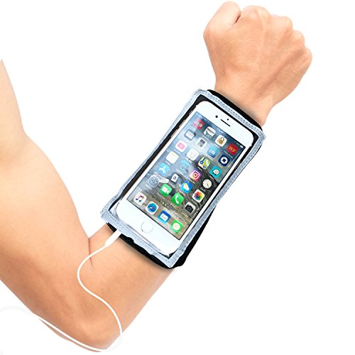 MyBand Running Armband Phone Holder - Fits iPhone 11 Pro, Xs, X. 8 and 7, Samsung S10 and S9 - Neoprene Wristband That Stretches to Forearm Fit