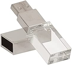 LANYOS 32GB New Crystal Transparent Rectangle Genuine USB Flash Drive 3.0 Wedding Gift Pendrive,Silver ?- ¡