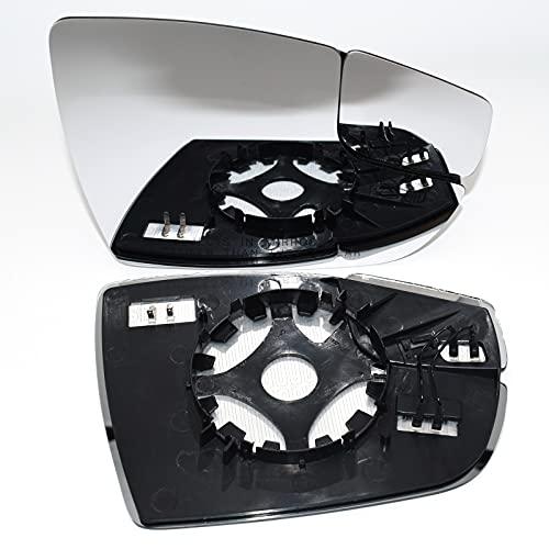 BYWWANG Espejo de Puerta de Cristal calefactado Convexo Punto Ciego Vista Trasera Exterior retrovisor, para Ford Focus 2012-2018