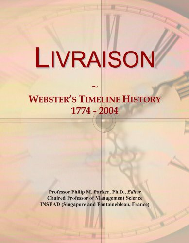 Livraison: Webster's Timeline History, 1774 - 2004