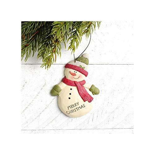 Blossom Bucket 208-50034 Merry Christmas Snowman Ornament, 4-inch Height