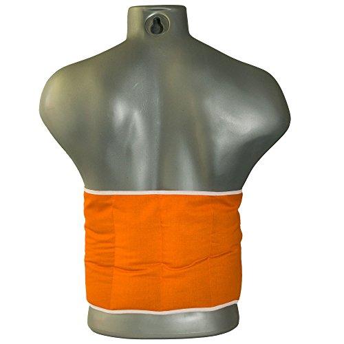 Kirschkernkissen 7-Kammer mit Gürtel & Klettverschluss | Länge ca. 135cm | orange | Wärmekissen XXL Körnerkissen