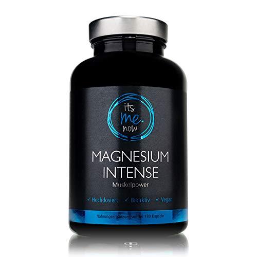 itsme.now® Magnesium Intense - Premium Magnesium Kapseln 600mg elementares Magnesium pro Tagesdosis I hochdosiertes Magnesiumoxid vegan ohne Zusatzstoffe I Magnesium made in Germany 180 Stück