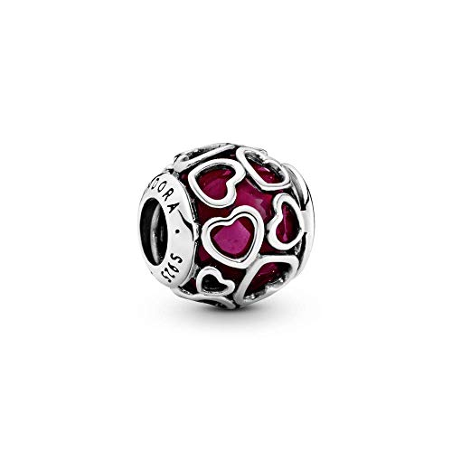 Pandora Damen Verliebt Charm Sterling Silber, Cubic Zirconia 792036NCC