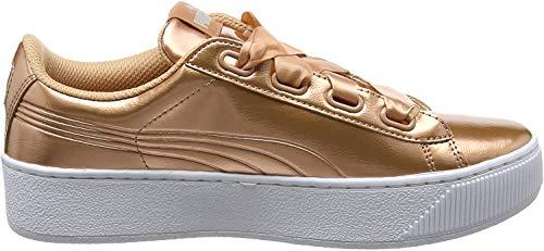 PUMA Damen Vikky Platform Ribbon P Sneaker, Pink (Dusty Coral-Dusty Coral), 42 EU