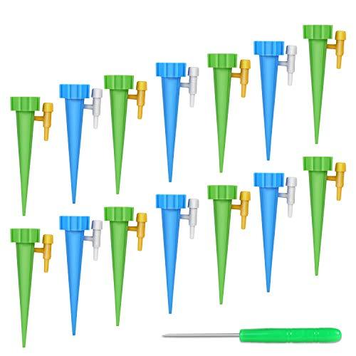 FYLINA Bewässerungssystem 15 Stück Automatisch Bewässerung Set Instellbar Einfaches Zum Gießen von Gartenpflanzen Blumen Bewässerung Zimmerpflanzen Pflanzen Bewässerung Urlaub [Upgrade Version]