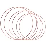 Sntieecr 6 Pieces 3 Sizes Rose-Gold Floral Hoop Wreath Metal Macrame Hoop Rings for Making Floral Wreath, Dream Catchers and Macrame Wall Hanging Crafts (8, 10 & 12 Inch)