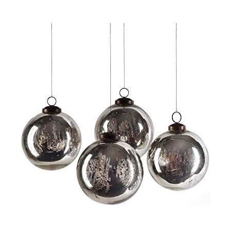 BD Crafts Antique Mercury Glass Ornaments