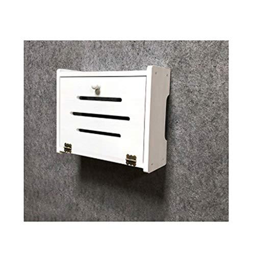 Estante del enrutador Wifi Router de almacenamiento en rack Soporte de TV Gabinete for sala de estar Fácil montaje del soporte de montaje en pared soporte de repisa for Accesorios Router WiFi Box Set