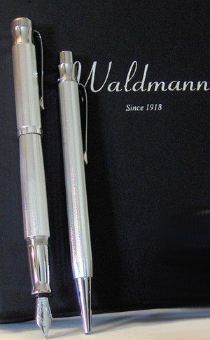 Waldmann Füllhalter und Kugelschreiber SPARSET TANGO Korn 925er Sterling Silber