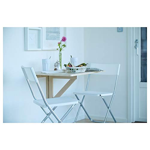 NORBO Wall-mounted drop-leaf table, birch, 79x59 cm, durable and easy to care for. Wall-mounted tables. Dining tables. Tables & desks. Furniture. Environment friendly.