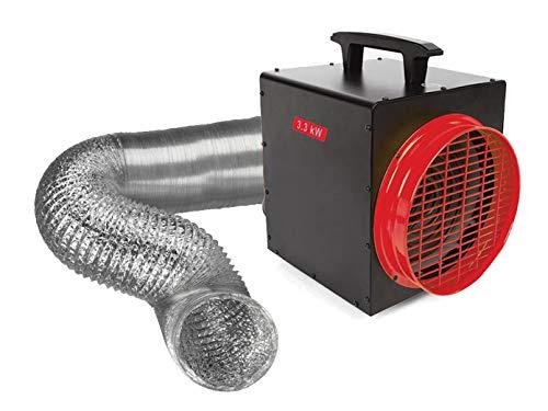 Calefactor de 3300 W con termostato y manguera de aire, calefacción eléctrica para taller