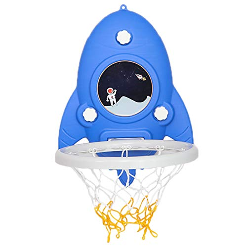 Canasta Baloncesto Aro de Baloncesto de Plástico para Montaje en Pared para Niños Pequeños, Mini Tablero de Baloncesto Colgante con Bola y Bomba de Aire, para El Juego de Bolas de Fiesta de Deportes e