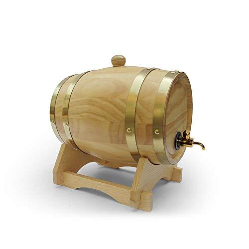 poetryer Barril De Roble 1,5 Litro Barrica Barril De Madera Barriles para Cerveza Barril Artesanal De Roble Barril De Licor Decoracion Hogar para El Almacenamiento De Vino Y Whisky