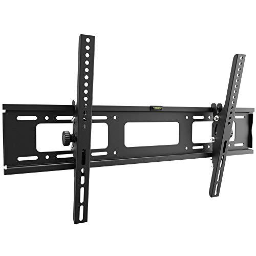 RICOO R07, TV Wandhalterung, Neigbar, Flach, Fix, Universal 37-80 Zoll (94-203 cm) TV-Halterung, Curved LCD LED Fernseher, bis VESA 600x400, Schwarz