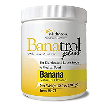 Banatrol Natural Anti-Diarrheal with Prebiotics Relief for IBS Recurring Diarrhea Clinically Supported Medical Food Non-Constipating 28 Servings  Banana