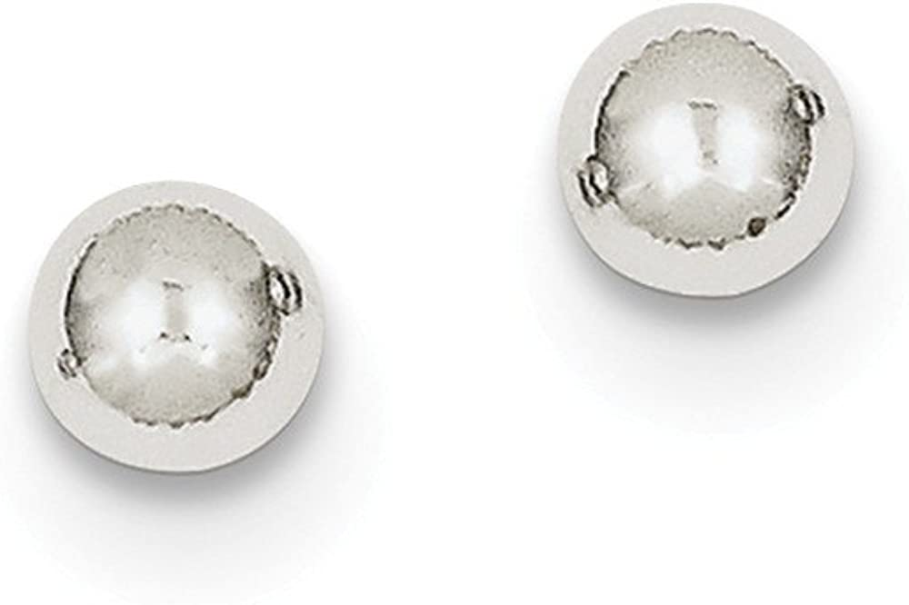 Manufacturer OFFicial shop 10k White Gold Polished 5mm Cheap bargain Earrings Post Ball