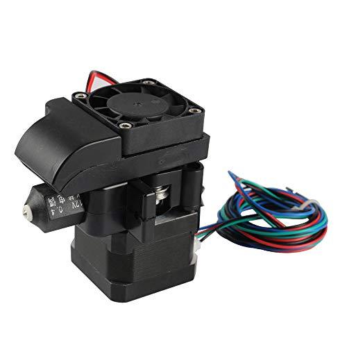 LICHONGUI 12V Removable 1.75mm 0.4mm Extruder Nozzle 100K Resistance + Stepper Motor + Cooling Fan Kit For 3D Printer