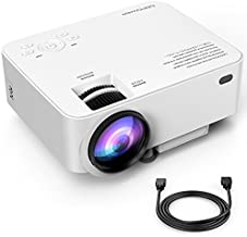 Upgraded DBPOWER T20 LCD Mini Movie Projector +10% Brighter, Multimedia Home Theater Video Projector with HDMI Cable, Support 1080P HDMI USB SD Card VGA AV TV Laptop Game iPhone Android Smartphone