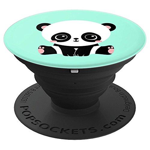 Cute Kawaii Baby Panda Pop Socket Mint Green Animal Lover