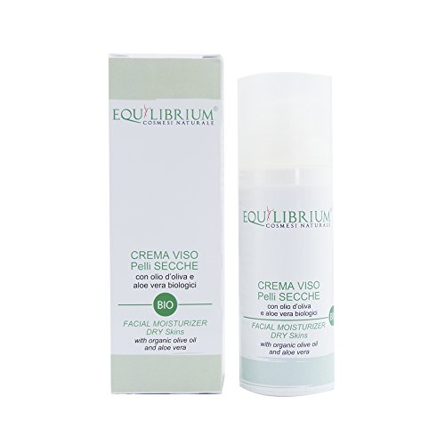 Equilibrium - Cosmétique naturel Crème pour le visage peau sèche 50 ml Bio avec huile d'olive et Aloe Vera biologiques