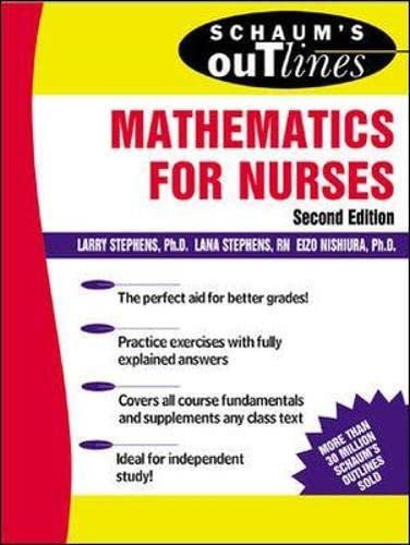 Schaums Outline Of Mathematics For Nurses