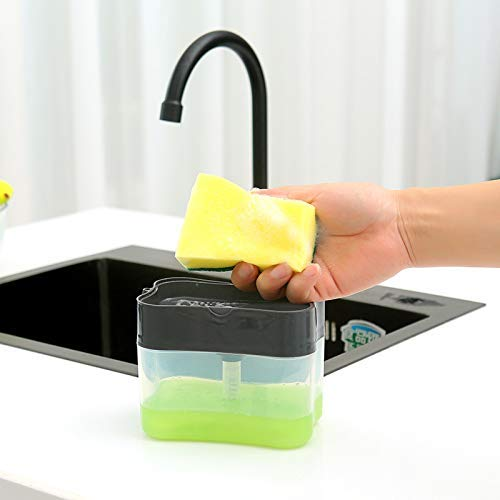 Maharaj Mall Soft Plastic Household Battery use Hand Electric Dishwasher Mini Dishes Washing Machine Kitchen Bowl Cleaning Brush (Large, White)