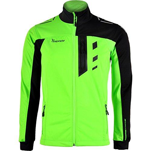 SILVINI Herren Casino Softshell Jacke mit Brusttasche und Atmungsaktive Rückenteil Grün - XXL