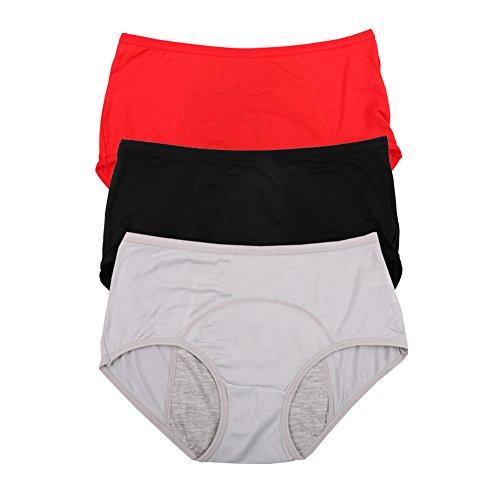 YOYI FASHION Womens Multi Packs Black Cotton Breathable Low-Rise Bikini Panties