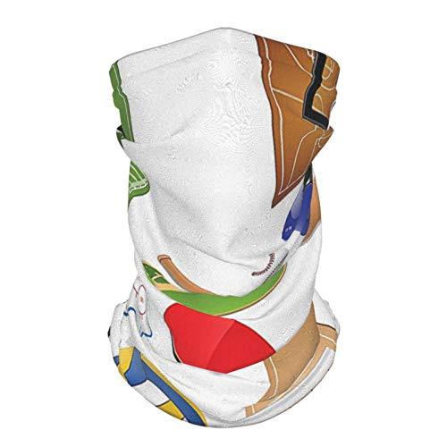 xfff132 al aire libre reutilizable seda cara diadema deportes decoración colección deporte iconos equipos hockey raqueta casco fútbol tenis baloncesto cara bufanda