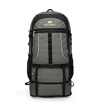 NEVO Rhino 45L / 55L Hiking Backpack, Expandable Large Capacity Daypack,Durable Wear Resistant Lightweight Backpack for Camping Climbing Outdoor Sports Trekking