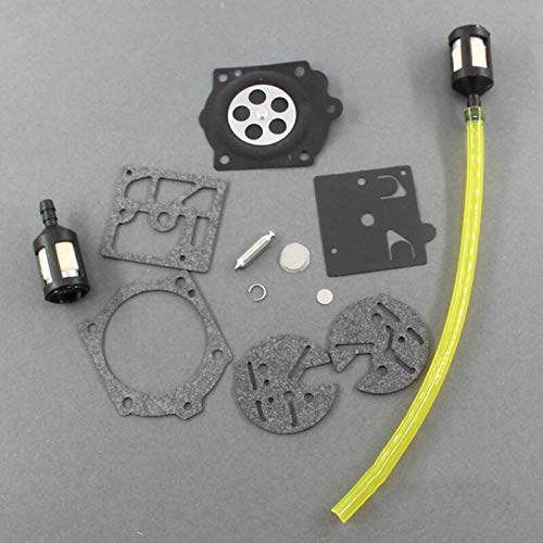BGTR Motorcycle Accessories 1 Set Carb Carburetors Chainsaw Repairing Kit Compatible for McCulloch Pro Mac 610 650 655 Chain Saw Fuel Line Tool Parts