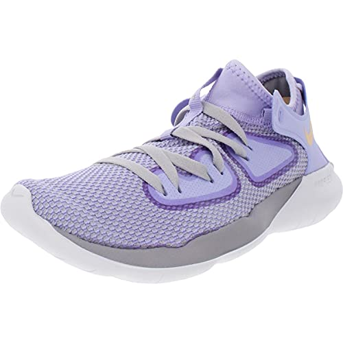 Nike Women's Flex 2019 RN Running Shoe (7.5, Purple Agate/Celestial Gold)