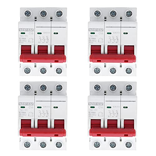 Interruptor de circuito solar en miniatura, voltaje nominal de AC 1500V 10A, 16A, 20A, 32A, 40A, 63A 55 x 80 x 75mm Tipo de polo