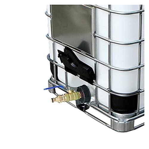 Conector Adaptador de tanques IBC S60x6 IBC Accesorios de contenedores IBC Adaptador de tanques IBC con válvula de bola de latón Sistema de conector de latón IBC Herrajes de tanque Para adaptador de g