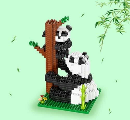 VSUK Riesige Panda 377 stücke Mini Ziegelsteine 3D Puzzles DIY Pädagogische Spielzeug Geschenke Erwachsene und Kinder Pädagogisches Spielzeug für Vorschule Kinder Gebäude Backsteinsatz