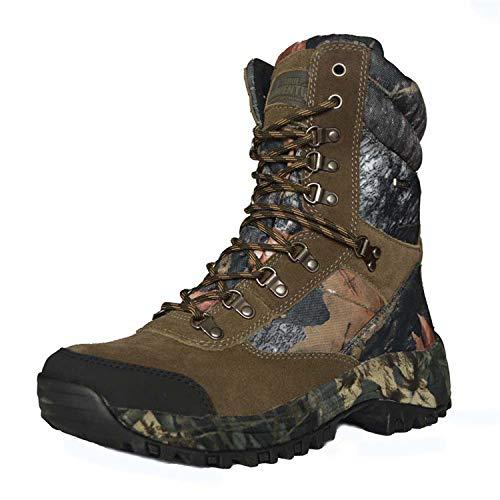 QIKAI Chaussures Militaires Et Boots Chaussures De Chasse Résistantes à L'usure, Camouflage Extérieur, Hautes, Pour Aider à Camoufler Les Bottes Tactiques,Camouflage-45