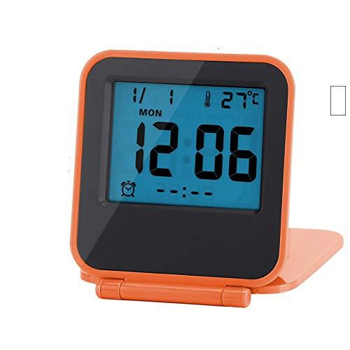 LED Digital Alarma Despertador,Mini Portátil Plegable Reloj