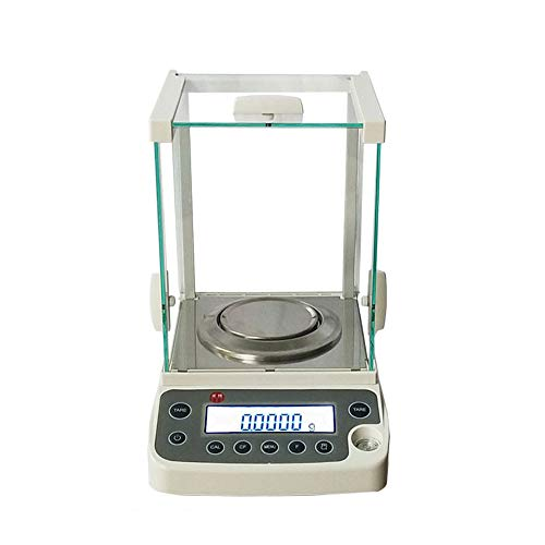 High Precision Lab Scale Digital Analytical Electronic Balance, 0.1mg Ultra Compact Design Electromagnetic Load-Cell USB Analytical Balance for Laboratory Pharmacy