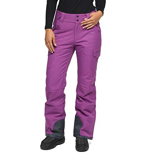 ARCTIX Snow Sports Insulated Cargo Pants Pantalones para Nieve, Mujer, Amatista Melange, Medium (8-10) Long