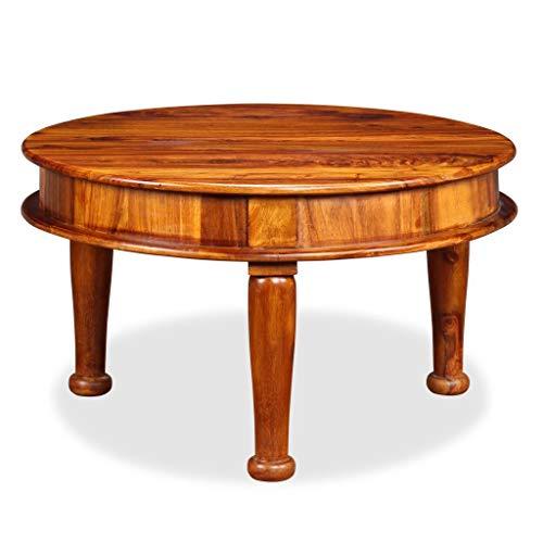 binzhoueushopping Table Basse Design Antique en Bois Massif de Sesham Table Basse Moderne 70 x 70 x 40 cm Table Basse Design