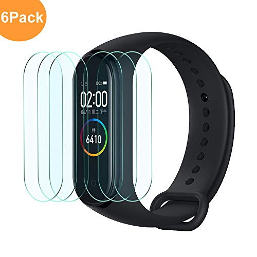 Widamin 6Pack, Screen Protector for Xiaomi Mi Smart Band 4/Mi Band 4, Soft Flexible TPU film 【Full Coverage】【Crystal Clearity】【Bubble-Free】 protector Film for Xiaomi Mi Smart Band 4